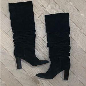 Manolo Blahnik Suede Knee Boots